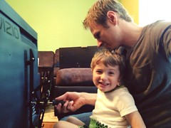 Bryce Helping Me Wall Mount These TVs (michaelbwelch) Tags: bryce