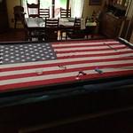 Framing a 5' x 10' flag for McGuire Veteren's Hospital