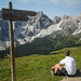 Contemplating the Dolomites view