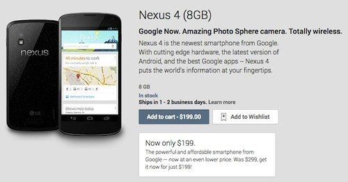 Google has brought down the price of the benchmark Android-smartphone Nexus 4 - CNews.ru