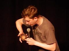 CC4K @ Edfringe13: Borrowing a Kippah (Diamond Geyser) Tags: show funny comedy onstage comedian yarmulke underbelly redhotchillipeppers kippah edfringe johnrobins comedyclub4kids cc4k edinburghfringefestival2013