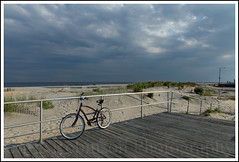 D u s k O n T h e B o a r d s (Chris Robinson Photography) Tags: vacation beach water bicycle island newjersey nj boardwalk oceancity atlanticocean thebeach oceancitynewjersey canonef24105mmf4lisusm rightnearthebeach 0ceanside