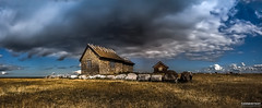Old stone house in the nature reserve Ottenby (Tannerstedt Photography) Tags: nightphotography panorama house beautiful stone clouds natural sweden reserve astrophotography milky land ottenby