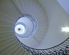 Tulip staircase (helenoftheways) Tags: uk london buildings spiral greenwich ngc wroughtiron staircase balustrade queenshouse circularwindow