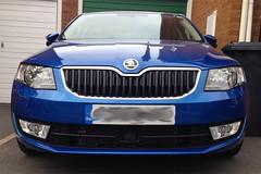 New Car (evansaviography) Tags: blue 3 race tdi mark iii front assist mk radar skoda octavia elegance 2014 mkiii mk3 2013