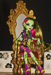 Venus McFlytrap (DollyWorld) Tags: pink portrait plant hot cute green love girl beautiful beauty monster pose garden toy girlfriend punk doll pretty venus sweet gorgeous adorable environmental cutie plastic greeneyes attitude chilling pout friendly sweetheart dolly recycle favourite pinkhair eco mattel vixen collector chillaxing ghoul pouty hotpink hairstreaks verylonghair wave1 dollcollector monsterhigh monsterhighdoll monsterhighschool venusmcflytrap
