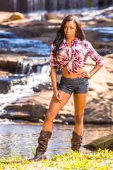 DaisyDukeCountryGirlShoot-20131012-014 (Frank Kloskowski) Tags: lighting people creek georgia outside shoot models canton spillway countrygirl pfashion