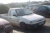Skoda Felicia Pickup (occama) Tags: old uk white car felicia cornwall pickup 1999 retro caddy skoda v968lfj