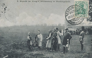 König Wilhelm II. von Württember im Manövergelände