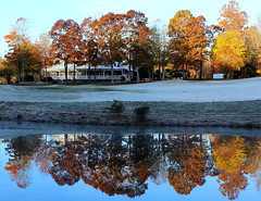 There are places I remember (Sam0hsong) Tags: autumn reflections lakes northcarolina sunny autumnleaves mebanenc millcreekgolfclub simplysuperb