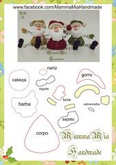 noel arame (Mamma Mia Handmade) Tags: felt feltro moldes
