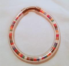 bracciale_tubo di plastica e riciclo_multicolor