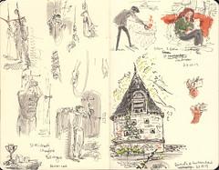 Page 07 (tanaudel) Tags: travel england moleskine bells drawing journal sketching dartmoor bellringing chagford traveljournal