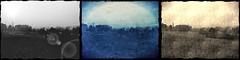 triptychon (oxyrhynchos - OLOliuqui) Tags: monochrome topv111 photomanipulation dark landscape experimental experiment surreal melancholy melancholic triptychon