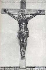 Edmondo Prati Crocifisso della Cappella del cimitero Bronzo Caldonazzo 1927