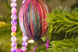 Old-fashioned bauble and beads