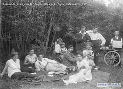 Romualdo Prati con la moglie Olga e la figlia Caldonazzo 1909