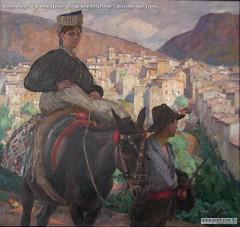 Romualdo Prati Donna laziale olio su tela 149x159cm Collezione Sait Trento