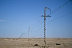 Elettric line (TheOne87) Tags: africa street sunset sky italy sun nature landscape nikon strada italia desert photos sale solo namibia orizzonte namib tralicci giorno continente suneset flickraward mygearandme