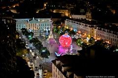 Rossio Square at Christmas 2013 (mylisbon) Tags: christmas xmas portugal beautiful natal night amazing lisboa lisbon decoration decor decoracao