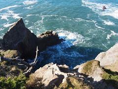 P1250059 (benguernsey) Tags: ocean cliff beach oregon pacific astoria cannonbeach oswaldwest shortsands traveloregon