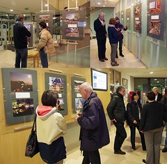 Pictures at an Exhibition (Jumpin'Jack) Tags: pictures people photo university library first exhibition slovenia solo panels visitors spectators maribor atmy