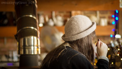 Café Bokeh (Rusty Marvin - JohnWoracker.com) Tags: street uk chimney england café girl hat bluebells lens 50mm milk cafe cattle cows russia bokeh britain candid tags hampshire tagged isleofwight manual jupiter calf herd guernsey ussr eatery dayout 11a goforit wootton 42mm 4135 briddlesfordlodgefarm lf40