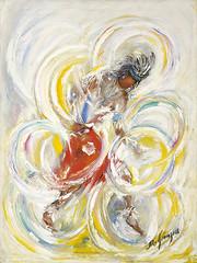 """Hoop Dancer"" (DeGrazia Gallery in the Sun) Tags: arizona ted colors architecture speed hoop painting dance movement artist gallery desert artgallery tucson native ceremony az dancer adobe american oil degrazia catalinas paletteknife ettore nationalhistoricdistrict galleryinthesun"