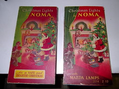 Pre war and Post war NOMA series lights (brown_dan72) Tags: outfit antique indoor series mazda c6 noma westinghouse generalelectric festoon chistmas1941 christmasww2 {vision}:{outdoor}=0719 {vision}:{text}=0609