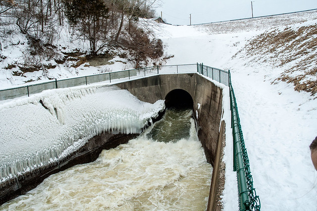 Lake Monroe Dam - Spillway - February 15, 2014