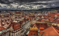 Prague (Vagelis Pikoulas) Tags: old autumn light sky sun storm colour clouds canon landscape eos kiss europe day view prague n praha 1855mm x4 2013 550d abigfave colorphotoaward mygearandme mygearandmepremium mygearandmebronze