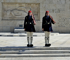 Defending civility, justice, and democracy, in front of Parliament (Tenia Prokalamou) Tags: athens evzones presidentialguard evzoni tsoliades presidentialmansion greektomboftheunknownsoldier ringexcellence dblringexcellence tplringexcellence eltringexcellence