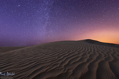 Brightness of the Sky! - Alsalmi Desert - Kuwait (AlkhashabNawaf) Tags: sky night dark stars photography sand nikon long exposure desert dunes trails iso kuwait nikkor shining brightness d800 nawaf 1635 hight               alsalmi alkhashab