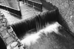 Waterfall (Cianod6) Tags: summer blackandwhite white lake black brick fall wet water river waterfall moss bricks smooth cannon