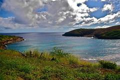 Hanauma Bay Fresh Air (AngelBeil) Tags: hawaii bay day cloudy honolulu hanauma