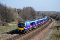 185135 passing through Mexborough with the 1B74 Manchester Airport to Cleethorpes service, 13th March 2014. (Dave Wragg) Tags: diesel railway railcar tpe dmu 1b74 mexborough class185 firsttranspennineexpress 185135
