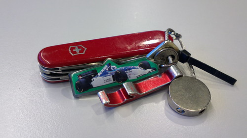 Swiss Army penknife and #F1 key ring... ISO 50, 8.3MP, #Pureview