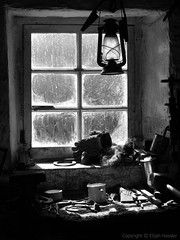 Tools of the Trade (right2roam) Tags: blackandwhite man window monochrome village hand antique farm traditional tools workshop nostalgic crofting cobbler manx workbench farrier crofters cregneish islefoman right2roam