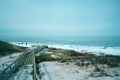 (theknark) Tags: landscape northshore 35mmfilm boardwalk princeedwardisland analogue cavendish winterscape peinationalpark kodakektar100 fujiklasse