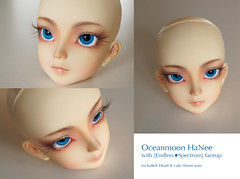Oceanmoon HaNee Head (<EndlessSpectrum>) Tags: girl ball asian dolls forsale spectrum short bjd resin abjd endless 50cm jointed oceanmoon hanee revilis