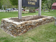 WM T.J. Mora 7, Retaing wall, dry laid stone construction, copyright 2014