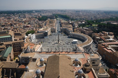 Tilt Shift Piazza (_Codename_) Tags: italy vatican rome honeymoon dome obelisk stpeterssquare stpetersbasilica vaticancity basilicadisanpietro tiltshift thewitness piazzadisanpietro cupolasanpietro stpeterspiazza