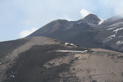 Etna's northern summit area and the old observatory buildings (Eric vulcano) Tags: italy volcano gas observatory crater summit sicily etna plume newsoutheastcrater fumarolles