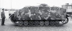 A German Sturmgeschütz IV - StuG IV (SdKfz 167), with added side plates of armor.