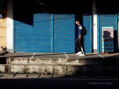 Blue (Meljoe San Diego) Tags: light shadow colors candid 28mm streetphotography gr ricoh ricohgr alaminoscity meljoesandiego