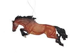 Bay Jumper Ornament (J. Nicholai) Tags: sculpture horse brown black sport bay jumping handmade relief event ornament medallion quarter jumper handcrafted resin bas equestrian thoroughbred equine warmblood eventer stockhorse