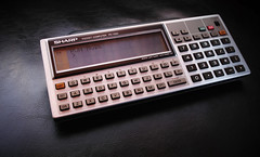 Sharp PC-1350 (keith midson) Tags: sharp calculator 1980s graphing 1350 pocketcomputer pc1350