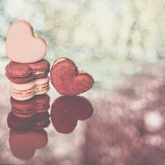 Monday, February 13, 2017: Heart (shreya59) Tags: macromondays heart macro macaroons pink red love bokeh reflection valentine nikon