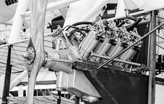 Aircraft V8 (Thad Zajdowicz) Tags: zajdowicz chantilly virginia museum udvarhazy smithsonian airplane aircraft canon eos 7d dslr digital indoor inside availablelight lightroom history travel usa primelens 50mm ef50mmf12lusm v8 engine old blackandwhite black white bw monochrome