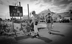 Tr - Beach! (Oceanraider........ On & Off for summer :)) Tags: street ireland people blackandwhite lumix mono documentary panasonic achill journalism